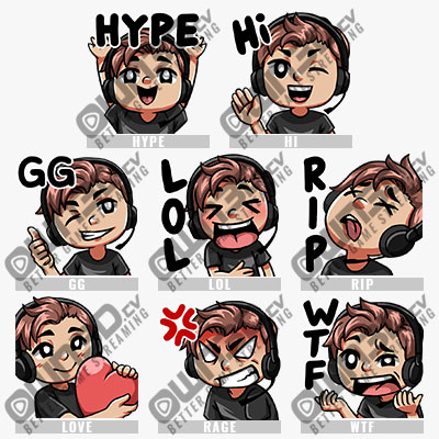 8-pack-streamer-brunette-twitch-emotes-sales-bundle